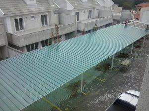 telha de Policarbonato click verde Translucida para garagem de carro Polysolution