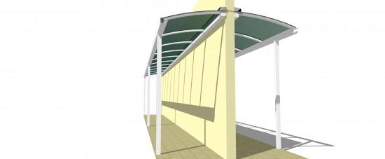 #façavocêmesmo #DIY cobertura Lateral de casa em Policarbonato sistema modular aluminio + Policarbonato Polysolution