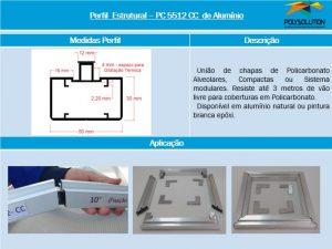 perfil de aluminio cunha e cantoneira PC5512 CC polysolution