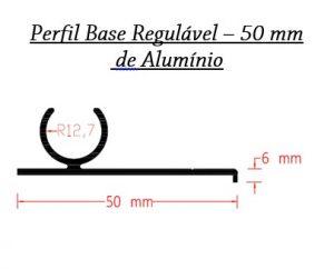 Perfis de Aluminio Base regulável 50 mm para Policarbonato - Polysolution