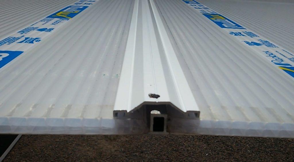 Perfis de Aluminio Base T 50 mm para Policarbonato - Polysolution