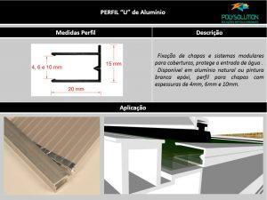 Perfis de Aluminio U para Policarbonato - Polysolution