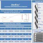 Veneziana industrial em Policarbonato compacto 1,3 mm Leitosa VentPoly - Polysolution