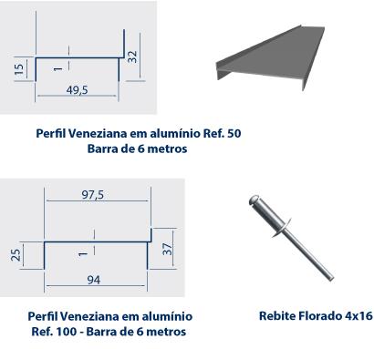 acessórios para instalação de venezianas industriais em Policarbonato