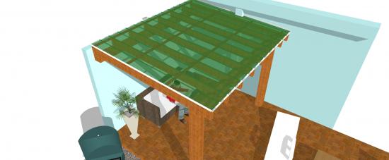 Detalhes de como fazer a estrutura de madeira para instalar as telhas de Policarbonato click Polysolution
