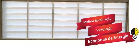 Veneziana Industrial em Policarbonato Translucido Polysolution - Ventilzação e iluminação natural