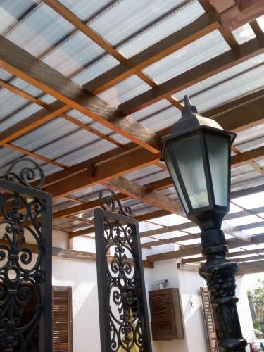 Telhas Click - cor bronze - vista de baixo - decoração