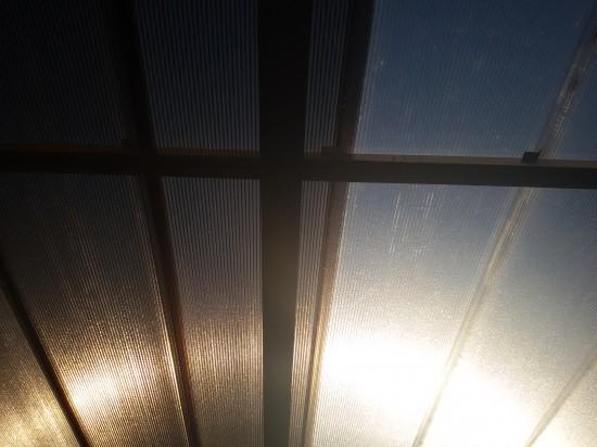 Cores das telhas de Policarbonato click Polysolution - bronze e cristal