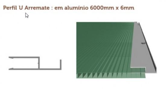 Perfil Arremate em Aluminio formato - Polysolution