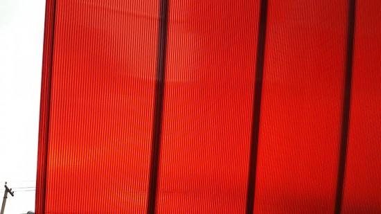 Telhas de Policarbonato click Alveolar Vermelho translucido -Polysolution