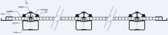 Sistema de Instalação de Coberturas de Policarbonato Polysolution perfil aluminio 5512 e viga calha ajustavel