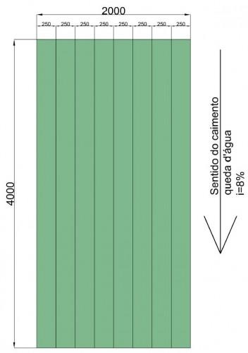 Especificação das Telhas de policarbonato Click - Medidas do telhado