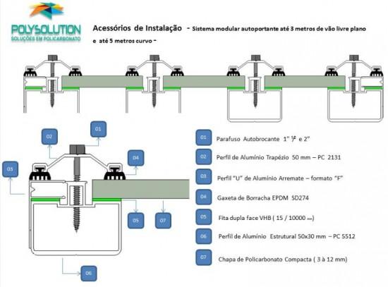 Sistema modular de instalação cobertura de Policarbonato com Perfil Viga calha e Perfil estrutural - faça voce mesmo, monte facil, rapido e economico