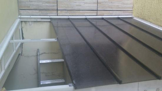 Instalação das Telhas de Policarbonato Click no Puxadinho da residencia