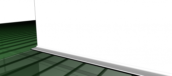 rufo de aluminio - opcional ao telhado click