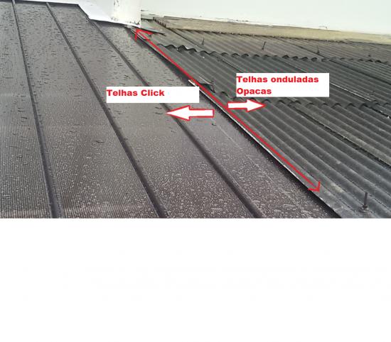 comparação das telhas click com telhas de firbocimento