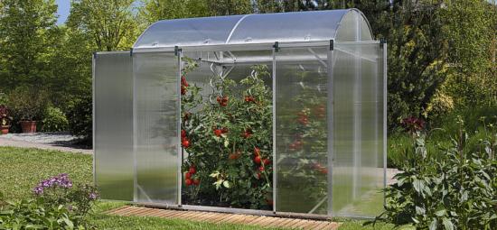 Estufa agricultura e estufa de flores com cobertura de Telhas de Policarbonato click cor cristal e chapa alveolar cristal de 6mm ou 10 mm