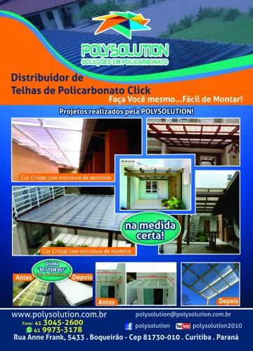 telhas de Policarbonato Click - sistema modular click, façça voce mesmo a cada 4 telhas = 1 metro