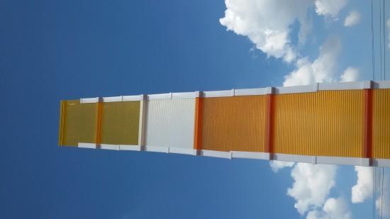 telha click laranja e amarela - telha de Policarboanto alveolar laranja - sistema modular click