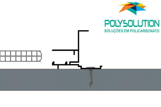 Sistema de montagem modular com perfil de união em aluminio RAP FIX CLICK, sistema de engate rápido para alveolar de 10 mm Polysolution