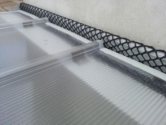 Varanda com as telhas de Policarbonato alveolar Click - DIY Polysolution