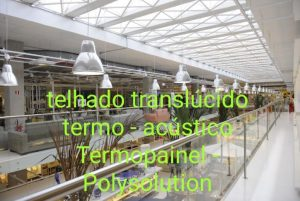 Termopainel telha de Policarbonato alveolar Trapezoidal translucido 30x1005x11.800 mm - Polysolution
