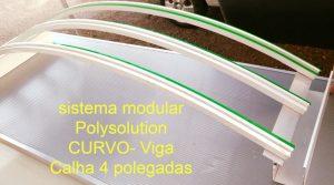 Perfil de Aluminio Estrutural PC4412_100 com 4 polegadas = 101,6 mm Viga-Calha Polysolution