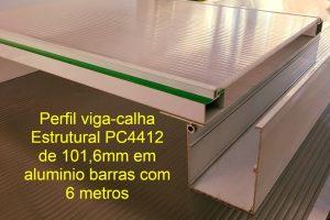 Perfil de aluminio estrutural de 4 polegadas - 101,6mm x 130 mm altura barras com 6 metros Polysolution