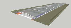 substituição do domo de iluminação natural sistema Skylight facil de instalar polysolut