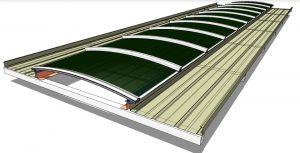 substituição do domo de iluminação natural sistema Skylight facil de instalar polysolution