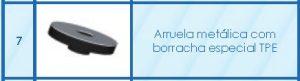 Arruela Metálica Especial com borracha Especial em EPDM - Polysolution