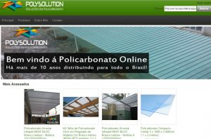 Loja virtual de Policarbonato Polysolution