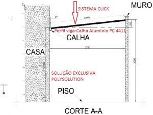 perfil estrutural de aluminio PC 5512 com arremate Polysolution