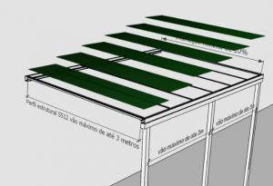 perfil estrutural de aluminio PC 5512 3 metros Polysolution
