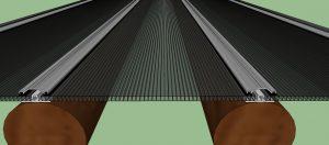 Pergolado de Madeira Roliça (Eucalipto) - com Perfil regua T Polysolution