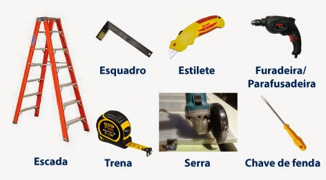 ferramentas recomendadas para se instalar as telhas de Policarbonato Click Polysolution