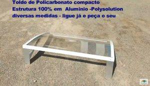 Mão Francesa e toldo de Policarbonato DIY pre pronto Polysolution