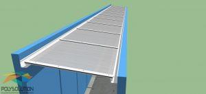 Coberta de Policarbonato com Perfis de aluminio Polysolution