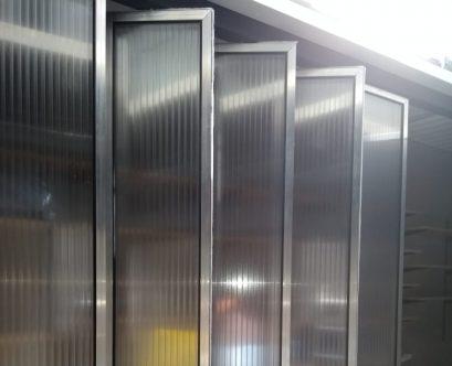 parede de policarbonato 40 mm pivotada polysolution 1