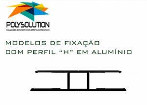 Pergolado de madeira com perfil de aluminio Estrutural H de 10 mm Polysolution