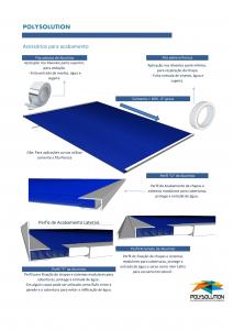 Normas de instalação de uma cobertura de Policarbonato Alveolar com os perfis de aluminio Polysolution
