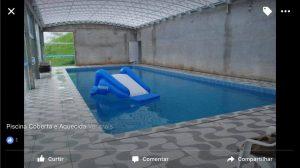 Cobertura de piscina com policarbonato alveolar 10 mm infr ared heat bloc ouro - Polysolution