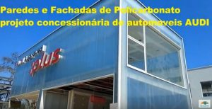 Paredes e divisórias de Policarbonato 40 mm wall 40 Polysolution
