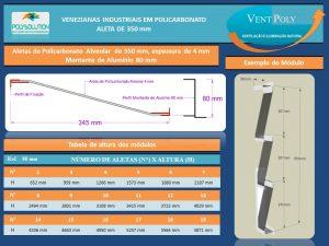 Veneziana Insustrial em Policarbonato Alveolar 4mm Vent-Poly