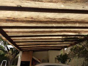 Telha de Policarbonato click 600mm e pergolado de madeira - DIY - faça voce mesmo