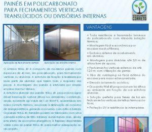 paredes e divisórias de Policarbonato 40 mm - Polysolution