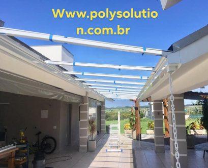 cobertura de corredor Lateral com Perfis de aluminio Polysolution