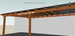 Cobertura de Policarbonato Pergolado Multi Painel 600 mm -#DIY #DIYpergolado - POlysolution