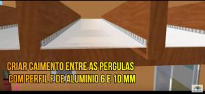 Pergolado de MAdeira Caimento Zero Policarbonato - Polysolution