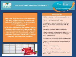 veneziana de policarbonato branco leitoso vent-Poly - instalação - Polysolution